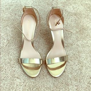 Aldo Paules gold healed sandals